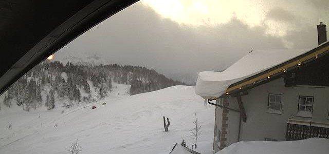 Schneesturm in Obertauern